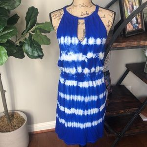 INC. Vibrant blue tie dye Dress size Medium